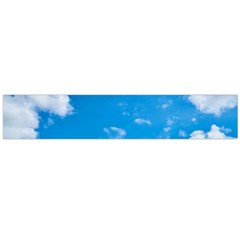 Sky Blue Clouds Nature Amazing Flano Scarf (large)