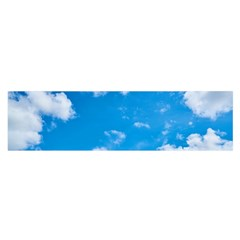 Sky Blue Clouds Nature Amazing Satin Scarf (Oblong)