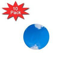 Sky Clouds Blue White Weather Air 1  Mini Buttons (10 pack)