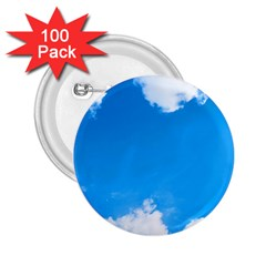 Sky Clouds Blue White Weather Air 2 25  Buttons (100 Pack)
