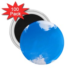 Sky Clouds Blue White Weather Air 2 25  Magnets (100 Pack)