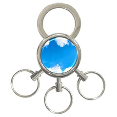 Sky Clouds Blue White Weather Air 3-Ring Key Chains
