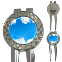 Sky Clouds Blue White Weather Air 3-in-1 Golf Divots