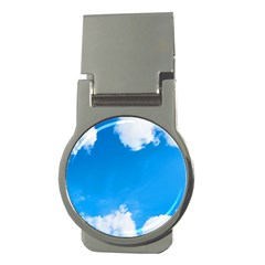 Sky Clouds Blue White Weather Air Money Clips (round)
