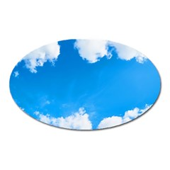 Sky Clouds Blue White Weather Air Oval Magnet