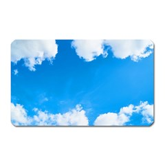 Sky Clouds Blue White Weather Air Magnet (rectangular)