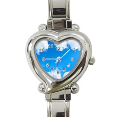 Sky Clouds Blue White Weather Air Heart Italian Charm Watch
