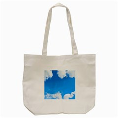 Sky Clouds Blue White Weather Air Tote Bag (Cream)