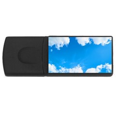 Sky Clouds Blue White Weather Air USB Flash Drive Rectangular (4 GB)
