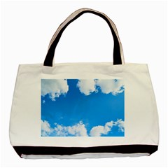 Sky Clouds Blue White Weather Air Basic Tote Bag