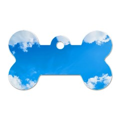 Sky Clouds Blue White Weather Air Dog Tag Bone (two Sides)