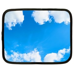 Sky Clouds Blue White Weather Air Netbook Case (Large)