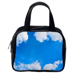 Sky Clouds Blue White Weather Air Classic Handbags (one Side)