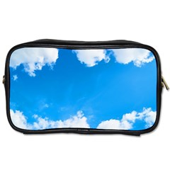 Sky Clouds Blue White Weather Air Toiletries Bags