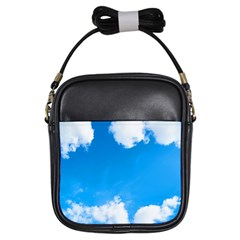 Sky Clouds Blue White Weather Air Girls Sling Bags