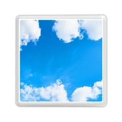 Sky Clouds Blue White Weather Air Memory Card Reader (square)