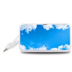 Sky Clouds Blue White Weather Air Portable Speaker (White)