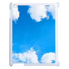 Sky Clouds Blue White Weather Air Apple Ipad 2 Case (white)
