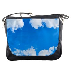 Sky Clouds Blue White Weather Air Messenger Bags