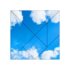 Sky Clouds Blue White Weather Air Acrylic Tangram Puzzle (4  x 4 )