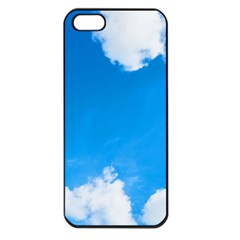 Sky Clouds Blue White Weather Air Apple iPhone 5 Seamless Case (Black)