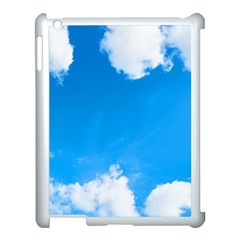 Sky Clouds Blue White Weather Air Apple Ipad 3/4 Case (white)