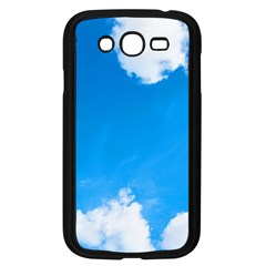 Sky Clouds Blue White Weather Air Samsung Galaxy Grand DUOS I9082 Case (Black)