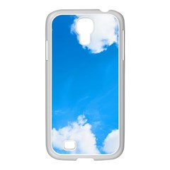 Sky Clouds Blue White Weather Air Samsung Galaxy S4 I9500/ I9505 Case (white)