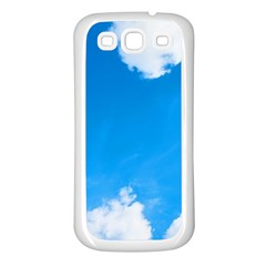 Sky Clouds Blue White Weather Air Samsung Galaxy S3 Back Case (White)