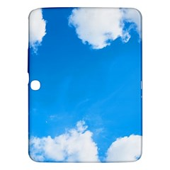 Sky Clouds Blue White Weather Air Samsung Galaxy Tab 3 (10.1 ) P5200 Hardshell Case