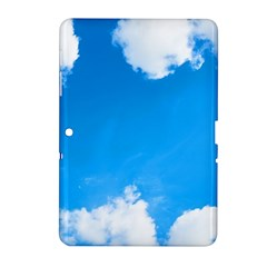 Sky Clouds Blue White Weather Air Samsung Galaxy Tab 2 (10.1 ) P5100 Hardshell Case
