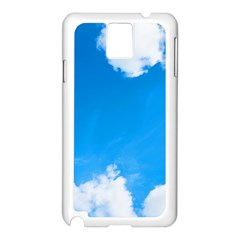 Sky Clouds Blue White Weather Air Samsung Galaxy Note 3 N9005 Case (White)