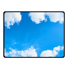 Sky Clouds Blue White Weather Air Double Sided Fleece Blanket (Small)