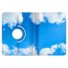 Sky Clouds Blue White Weather Air Kindle Fire HDX Flip 360 Case
