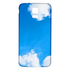 Sky Clouds Blue White Weather Air Samsung Galaxy S5 Back Case (White)