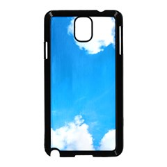 Sky Clouds Blue White Weather Air Samsung Galaxy Note 3 Neo Hardshell Case (Black)