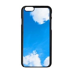 Sky Clouds Blue White Weather Air Apple iPhone 6/6S Black Enamel Case