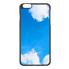 Sky Clouds Blue White Weather Air Apple iPhone 6 Plus/6S Plus Black Enamel Case
