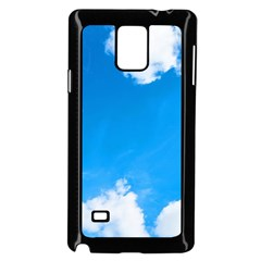 Sky Clouds Blue White Weather Air Samsung Galaxy Note 4 Case (Black)