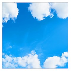 Sky Clouds Blue White Weather Air Large Satin Scarf (Square)