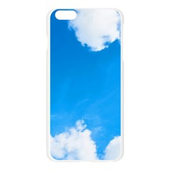 Sky Clouds Blue White Weather Air Apple Seamless iPhone 6 Plus/6S Plus Case (Transparent)