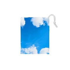 Sky Clouds Blue White Weather Air Drawstring Pouches (xs)