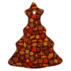 Pattern Background Ethnic Tribal Ornament (Christmas Tree)