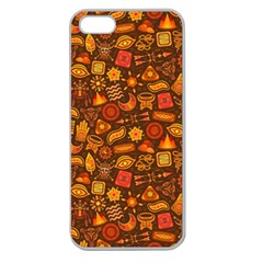 Pattern Background Ethnic Tribal Apple Seamless iPhone 5 Case (Clear)