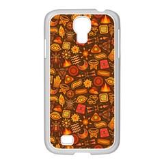 Pattern Background Ethnic Tribal Samsung GALAXY S4 I9500/ I9505 Case (White)