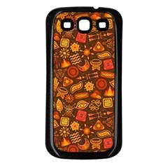 Pattern Background Ethnic Tribal Samsung Galaxy S3 Back Case (Black)