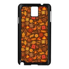 Pattern Background Ethnic Tribal Samsung Galaxy Note 3 N9005 Case (Black)