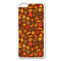 Pattern Background Ethnic Tribal Apple iPhone 6 Plus/6S Plus Enamel White Case