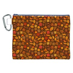 Pattern Background Ethnic Tribal Canvas Cosmetic Bag (XXL)