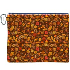 Pattern Background Ethnic Tribal Canvas Cosmetic Bag (XXXL)